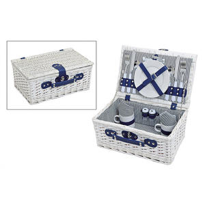 Picknickkorb für 2 Personen weiß