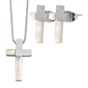 Edelstahl-Schmuckset- Kreuz