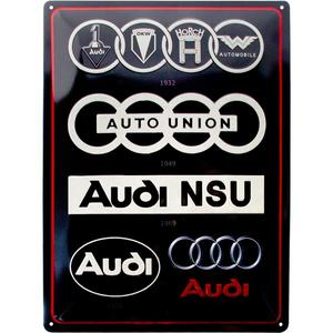 Audi - Logo Evolution - Metallschild