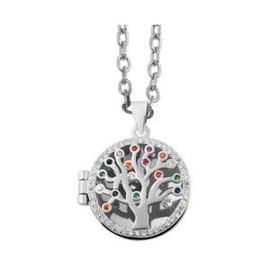 925 Silber Anhänger Medaillon Lebensbaum