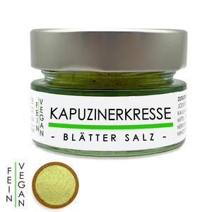 Kapuzinerkresse Blätter Salz - Kräutersalz 80g