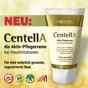 CentellA Aktiv-Pflegecreme mit Avocado- und Weizenkeimöl, Malve und Perlmoos für eine natürlich gesunde, regenerierte Haut