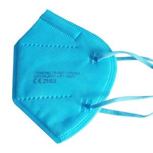 FFP2 Maske, Mundschutz, Schutzmaske mit CE 95% Filter Farbe Hellblau