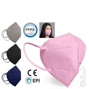 FFP2 Schutzmaske, 1 Stück, Farbe rosa, CE und gratis Ohrenschoner