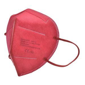 FFP2 Maske - Mundschutz, 10 Stück mit CE 95% Filter, Farbe rot einzelverpackt