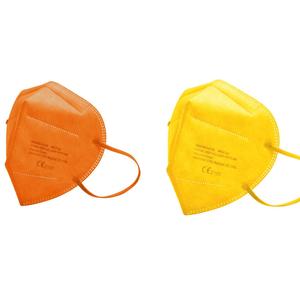 FFP2 Schutzmaske 20 Stück sortiert, 10 Stück gelb, 10 Stück orange, mit CE 95% Filter