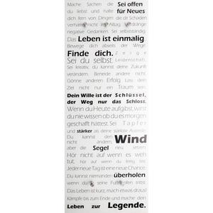 Glasgarderobe Felix, 50 x 125 cm - Garderobe für Wandmontage - Motiv: Motivation