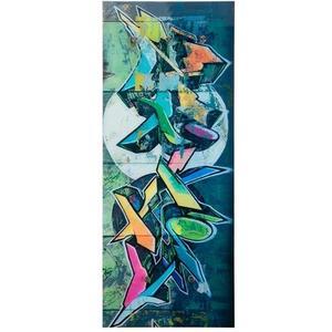 Glasgarderobe Felix, 50 x 125 cm - Garderobe für Wandmontage - Motiv: Grafitti