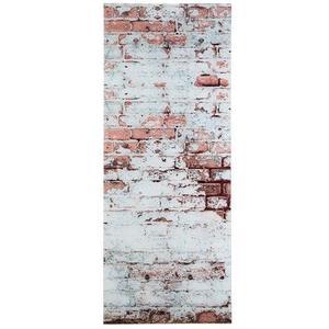 Glasgarderobe Felix, 50 x 125 cm - Garderobe für Wandmontage - Motiv: Mauer