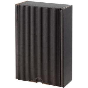 Senger's leerer Geschenkskarton mit Holzwolle Ausßenwelle, schwarz, H26 X B16 X T8