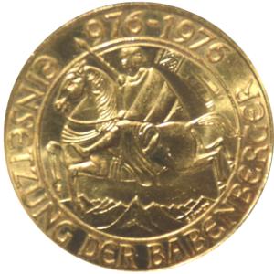 Goldmünze Babenberger - 1000 Schilling