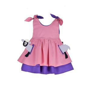 TASCHEN SET - Kleid inkl. Schaf Tier-Applikation – Rosa