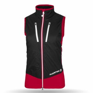Caldera Vest Women - sangria/black