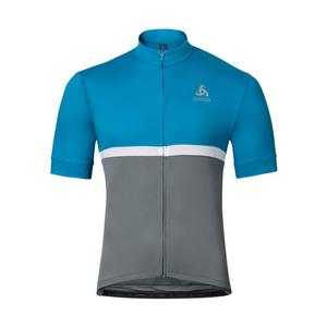 Fujin Stand-up collar Jersey - blue jewel-odlo steel grey
