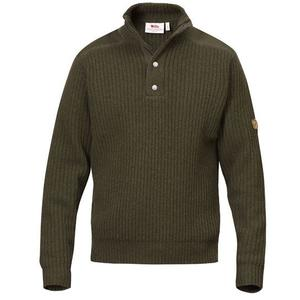 Värmland T-Neck Sweater - dark olive