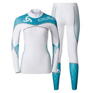 Aeroflow Racesuit Women - white/algiers blue