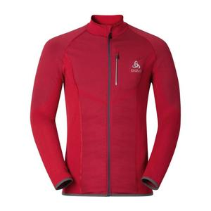 Velocity Midlayer Full Zip Jacket - jester red
