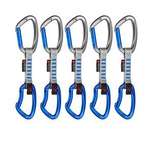 5er Pack Crag Indicator Express Sets straight-bent 10 cm - silver/ultramarine
