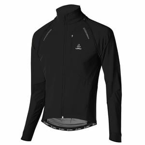 San Remo Softshell Bike Jacket - black/grau mele