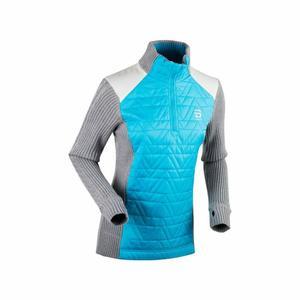 Half Zip Comfy Sweater Women - light grey melange