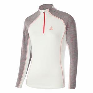 Zip-Sweater Bea Transtex® Women - white/flamenco