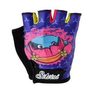 Punta Gloves Junior - navy-fuchsia