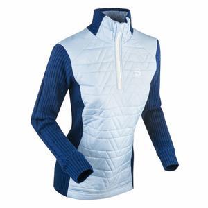 Half Zip Comfy Women - cashmere blue
