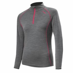Transtex Merino Pullover Women - grey melange