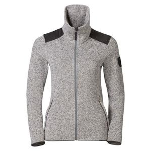 Lucma X Midlayer Full Zip Pullover Women - grey melange