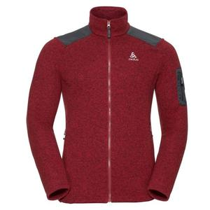 Lucma X Midlayer Full Zip Pullover - red dahlia melange