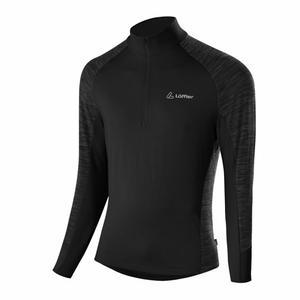 Transtex® Zip-Sweater Rob - black