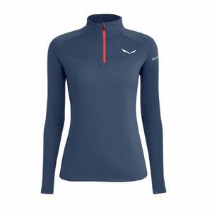 Sennes Dry'Ton Long Sleeved Half-Zip Women Shirt - navy blazer