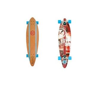 Kryptonics Longboard Surfcity 37 - brown-red