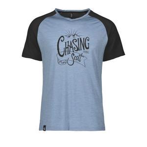 Trail Flow Raglan T-Shirt - washed blue/black