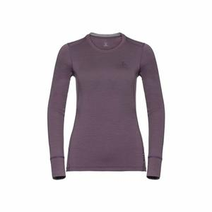 Merino Warm Shirt Women - vintage violet/grey melange
