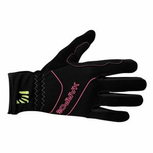 Alagna Glove - pink fluo/black
