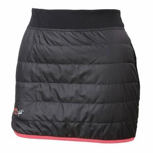 Rythmo Skirt Women - black/coral fluo
