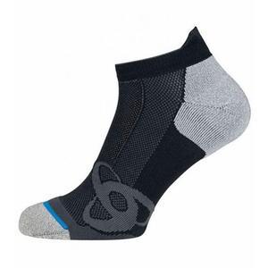 Short Running Low Cut Socks - black - grey melange