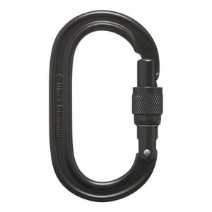 Oval Keylock Screwgate Carabiner - black
