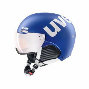 500 Visor Helmet - cobalt/white mat