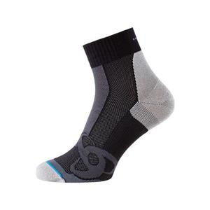 Short Running Socks - black - grey melange
