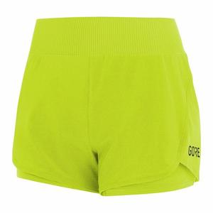 R7 2in1 Shorts Women - citrus green