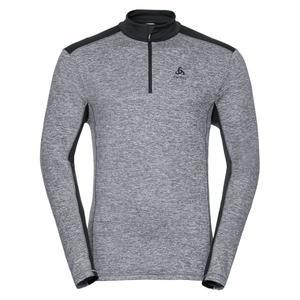 Steeze 1/2 Zip Midlayer Pullover - grey melange - odlo graphite grey