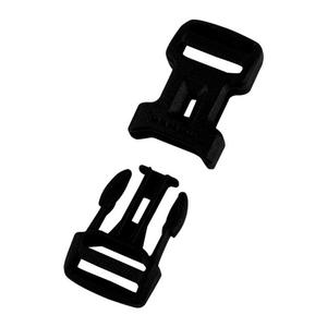 Dual Adjust Side Squeeze Buckle - 15 mm black