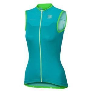 BodyFit Pro Jersey Women - turquoise/green fluo