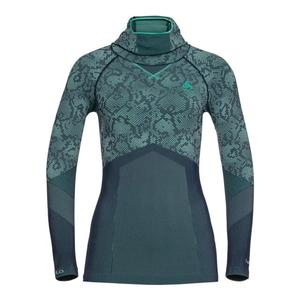 Blackcomb Evolution Warm L/S with Facemask Women - peacoat/mint leaf/mint leaf