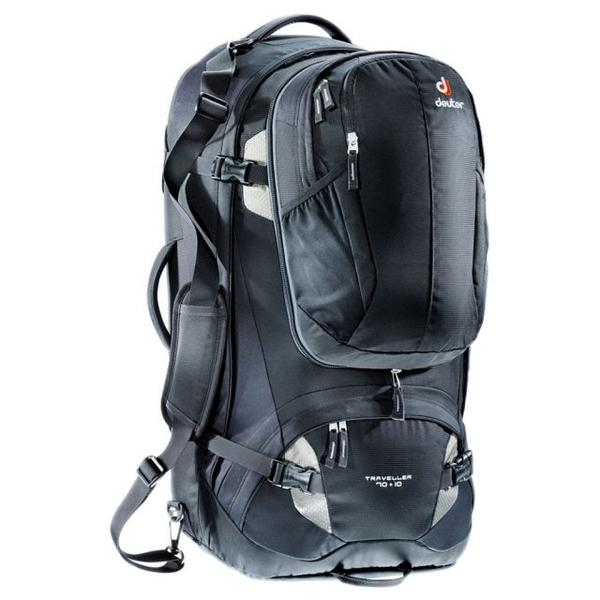 Traveller 70 + 10 L - black/silver