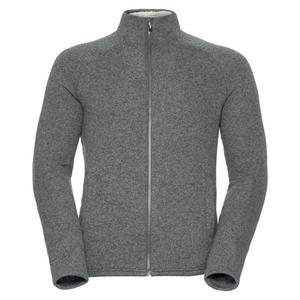 Sherpa Midlayer Full Zip Jacket - grey melange