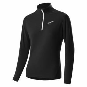 Zip-Sweater Stretchfleece Light Women - black