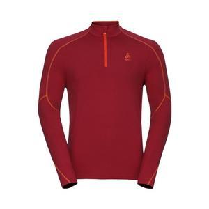 Stand-Up Collar Sillian T-Shirt - red dahlia